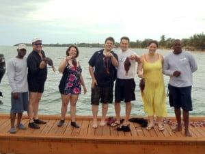 Belize Scuba Diving lionfish hunters