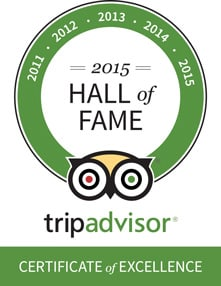 Hamanasi was awarded a TripAdvisor Hall of Fame honor for winning a Certificate of Excellence every year of the award's existance