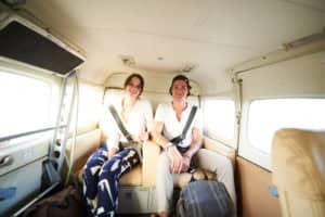 Dan Kelleghan and Katrina Hoenig on the way to Hamanasi resort in Belize