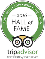 Hamanasi was awarded a TripAdvisor Hall of Fame honor for winning a Certificate of Excellence every year of the award's existence
