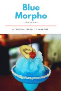 blue morpho cocktail recipe from Hamanasi resort in Belize